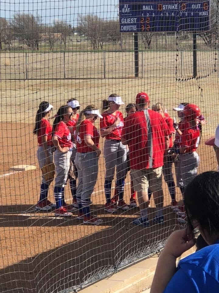 Roughettes overpower the Crosbyton Chiefettes in Softball